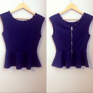 Navy blue blouse